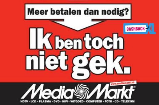 Media Markt bij CashbackXL